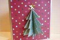 Simple D Christmas Card  Cut  Paste  Christmas Tree Cards throughout 3D Christmas Tree Card Template