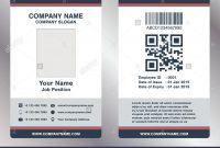 Simple Employee Business Name Card Template Vector Stock Vector Art regarding Work Id Card Template