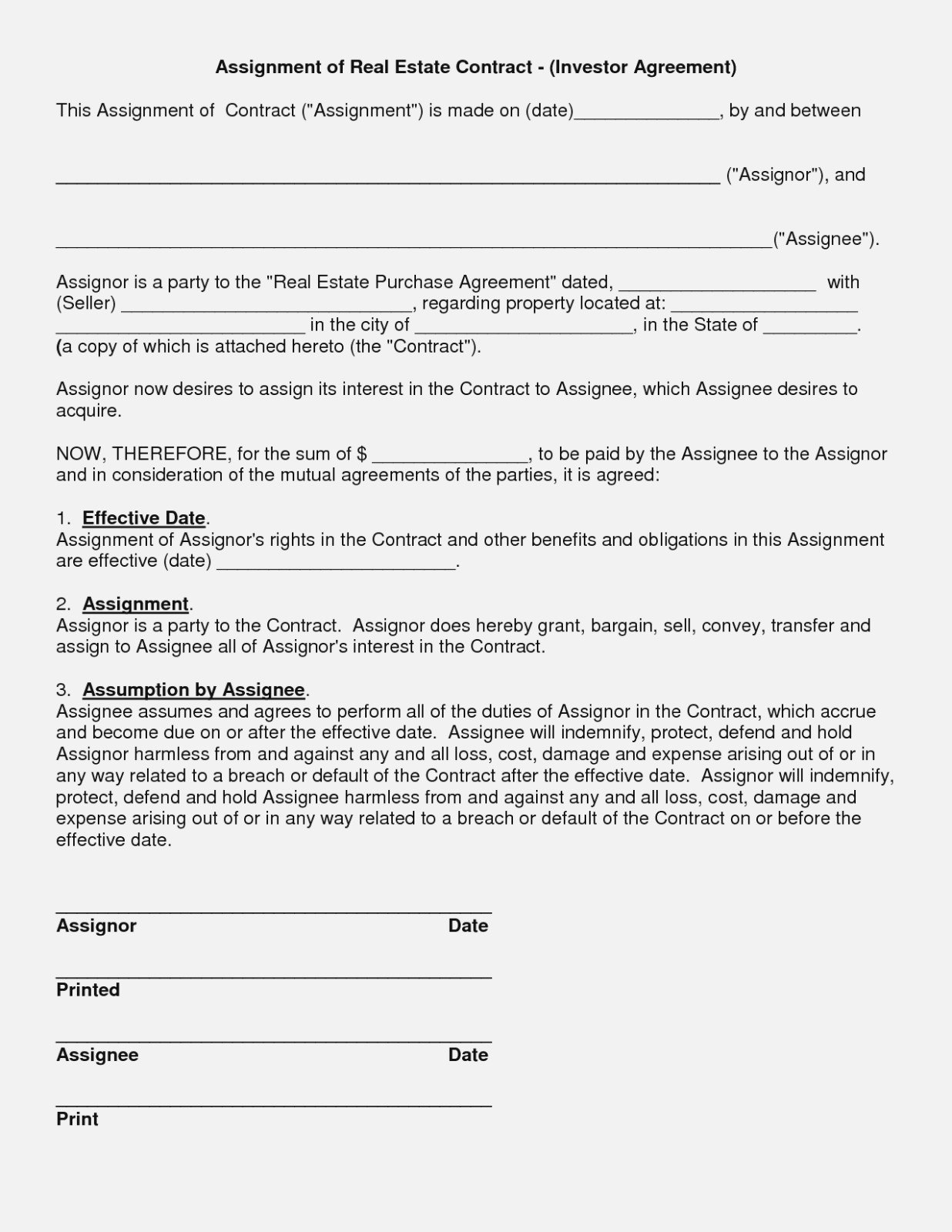 Simple Investment Agreement Sample Awesome Free Simple Real Estate Intended For Free Simple Real Estate Purchase Agreement Template