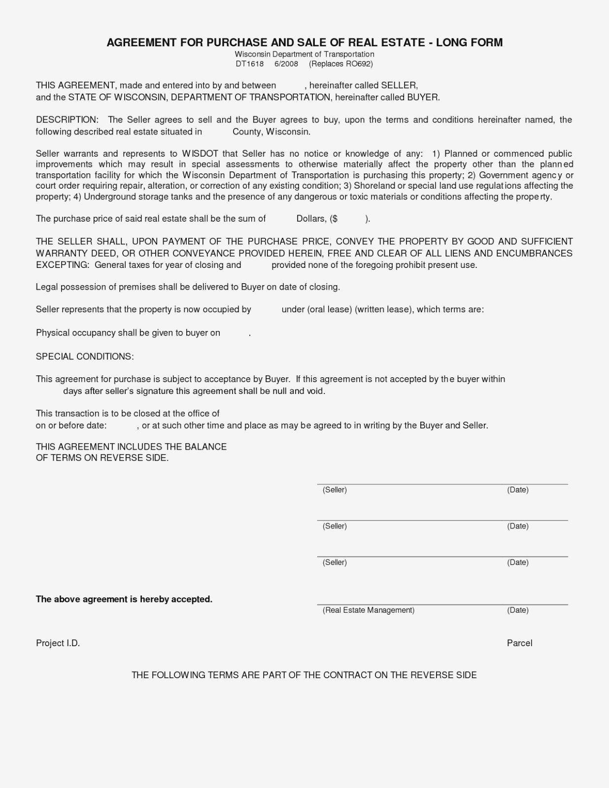Simple Land Purchase Agreement Form  Business Mentor – Sample Home For Home Purchase Agreement Template