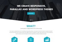 Simple Parallax Website Template Free Psd  Download Psd in Free Psd Website Templates For Business
