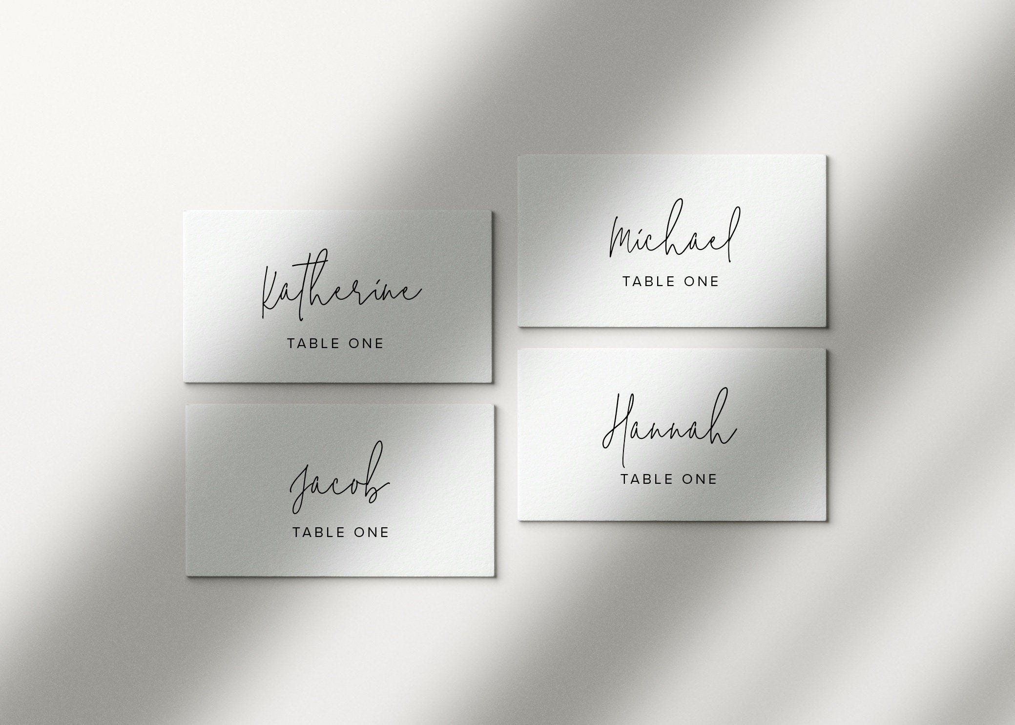 Simple Place Card Template Wedding Place Name Settings  Etsy In Michaels Place Card Template