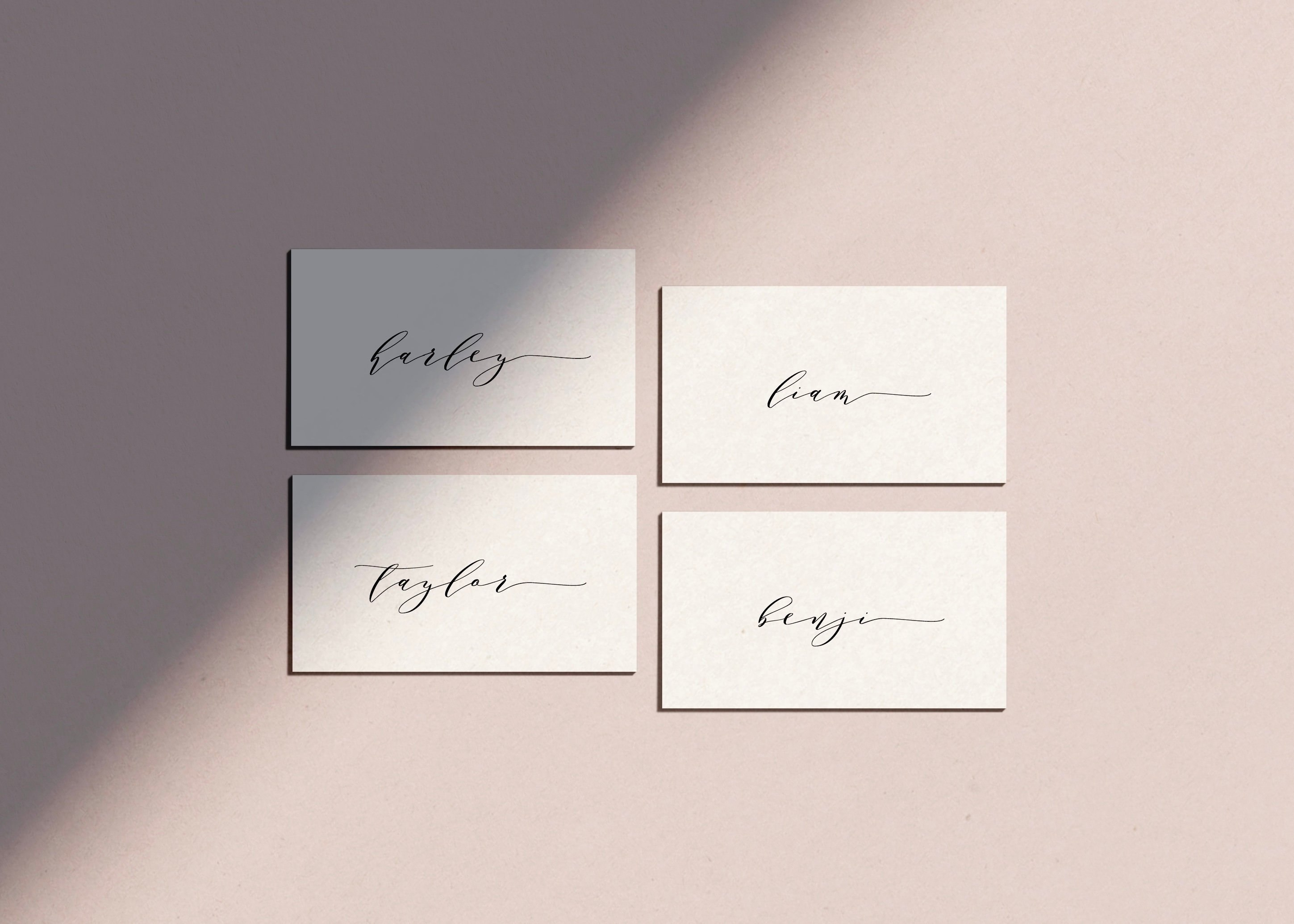 Simple Place Card Template Wedding Place Name Settings  Etsy Intended For Place Card Setting Template