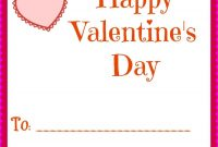 Simple Printable Valentines Day Cards For Your Kids Classrooms for Valentine Card Template For Kids