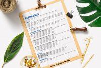 Simple Resume Template Reuben Hayes  Bestresumes with Hayes Certificate Templates