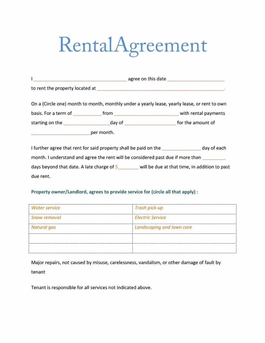 Simple Room Rental Agreement Form Free Elegant Excellent Free Regarding Simple House Rental Agreement Template