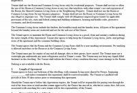 Simple Room Rental Agreement Templates  Template Archive inside Building Rental Agreement Template