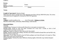 Simple Room Rental Agreement Templates  Template Archive intended for Land Rental Agreement Template