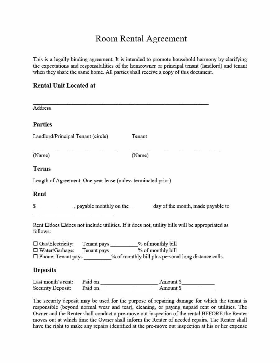 Simple Room Rental Agreement Templates  Template Archive  Raghu In Simple House Rental Agreement Template