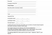 Simple Room Rental Agreement Templates  Template Archive with Private Rental Agreement Template
