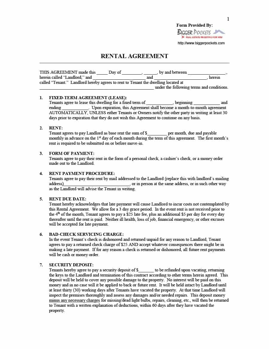 Simple Room Rental Agreement Templates  Template Archive With Regard To Fixed Term Tenancy Agreement Template