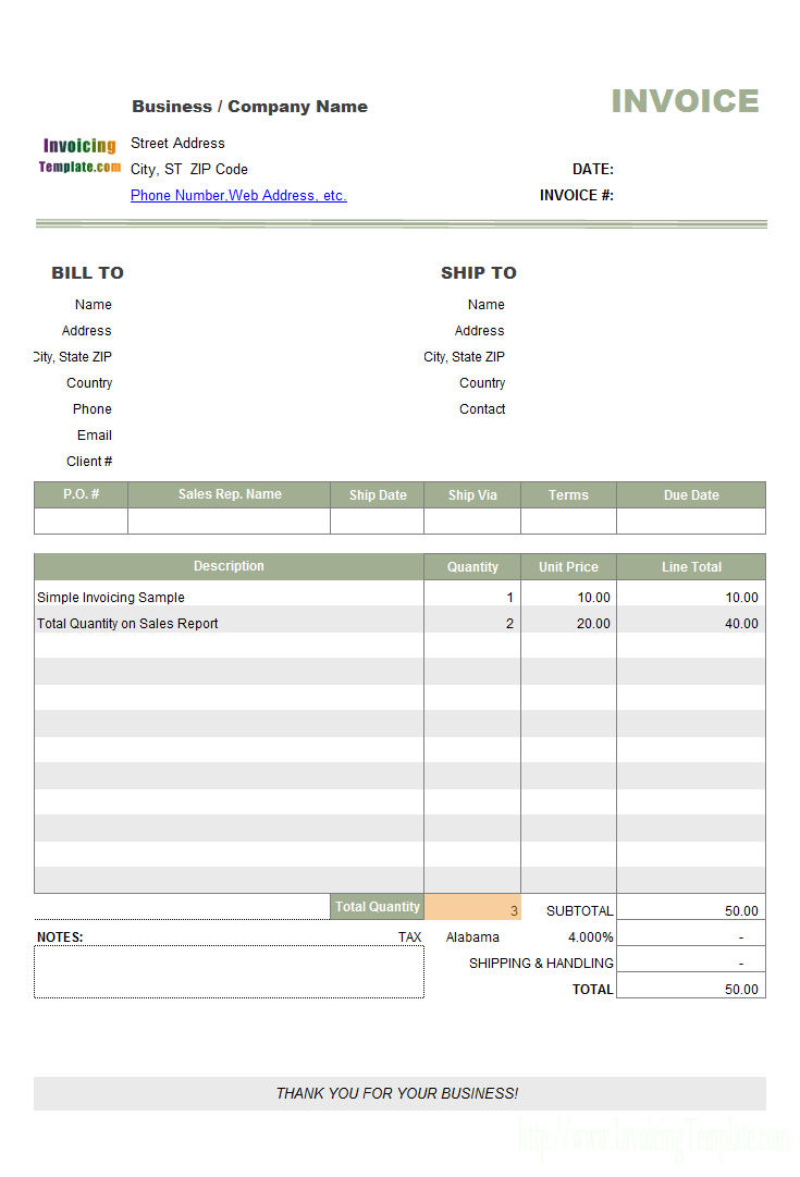 Simple Sample  Building  Remodeling Invoice In Make Your Own Invoice Template Free