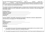 Simple Tenancy Agreement Templates  Pdf  Free  Premium Templates inside Business Lease Agreement Template Free