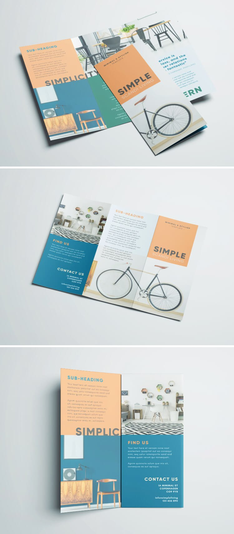 Simple Tri Fold Brochure  Free Indesign Template Within Creative Brochure Templates Free Download
