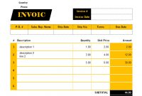 Singapore Gst Invoice Template Sales inside Invoice Template Singapore