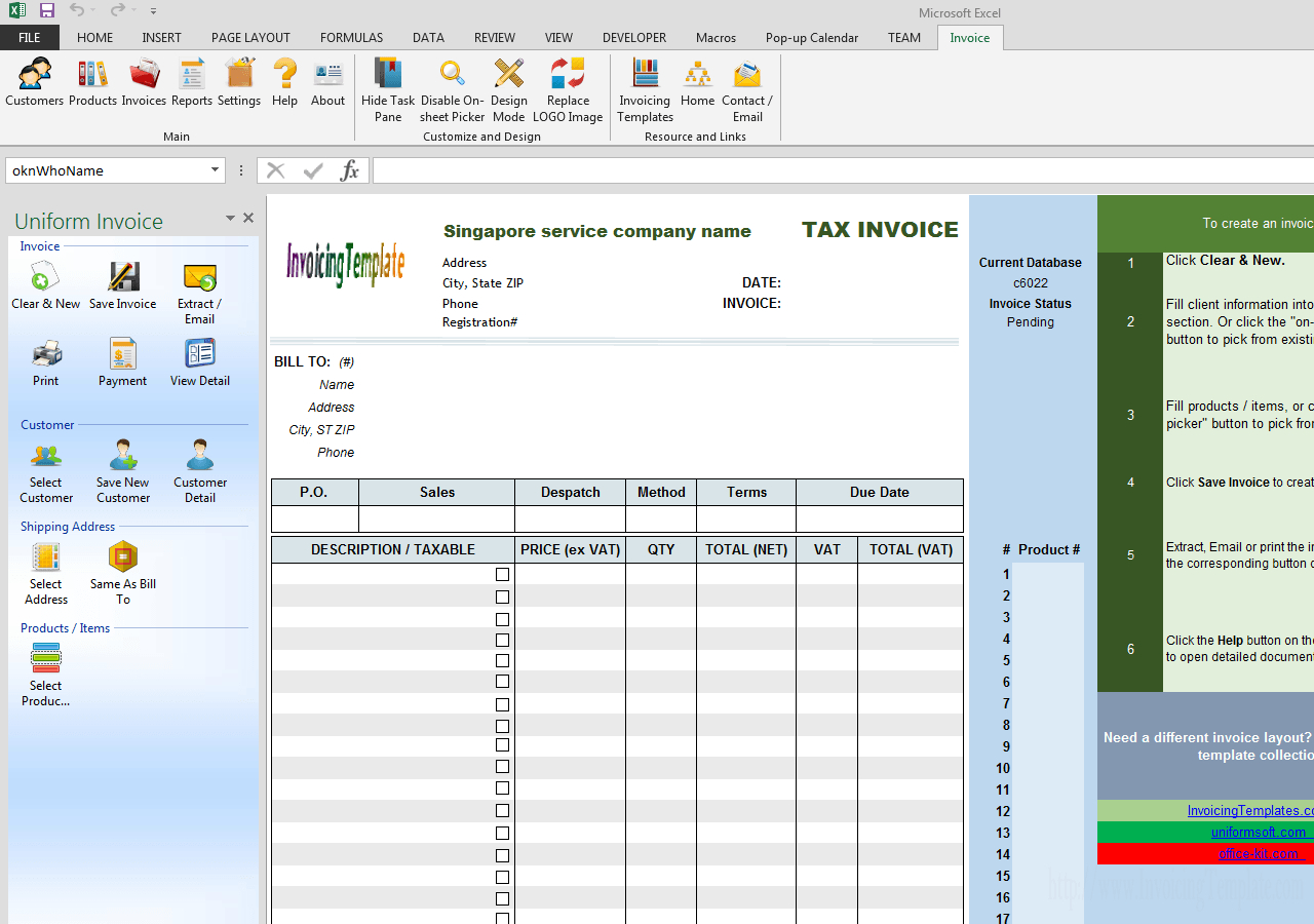 Singapore Gst Invoice Template Service For Singapore Invoice Template