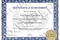 Six Sigma Green Belt Certification in Green Belt Certificate Template