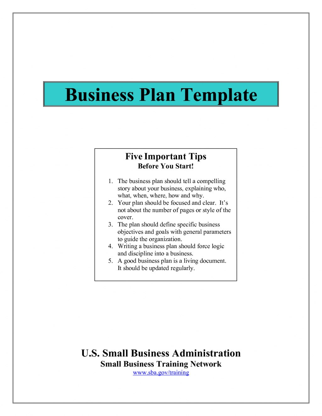 Small Business Administration Sample Plans Strategic Plan  Karaackerman With Small Business Administration Business Plan Template