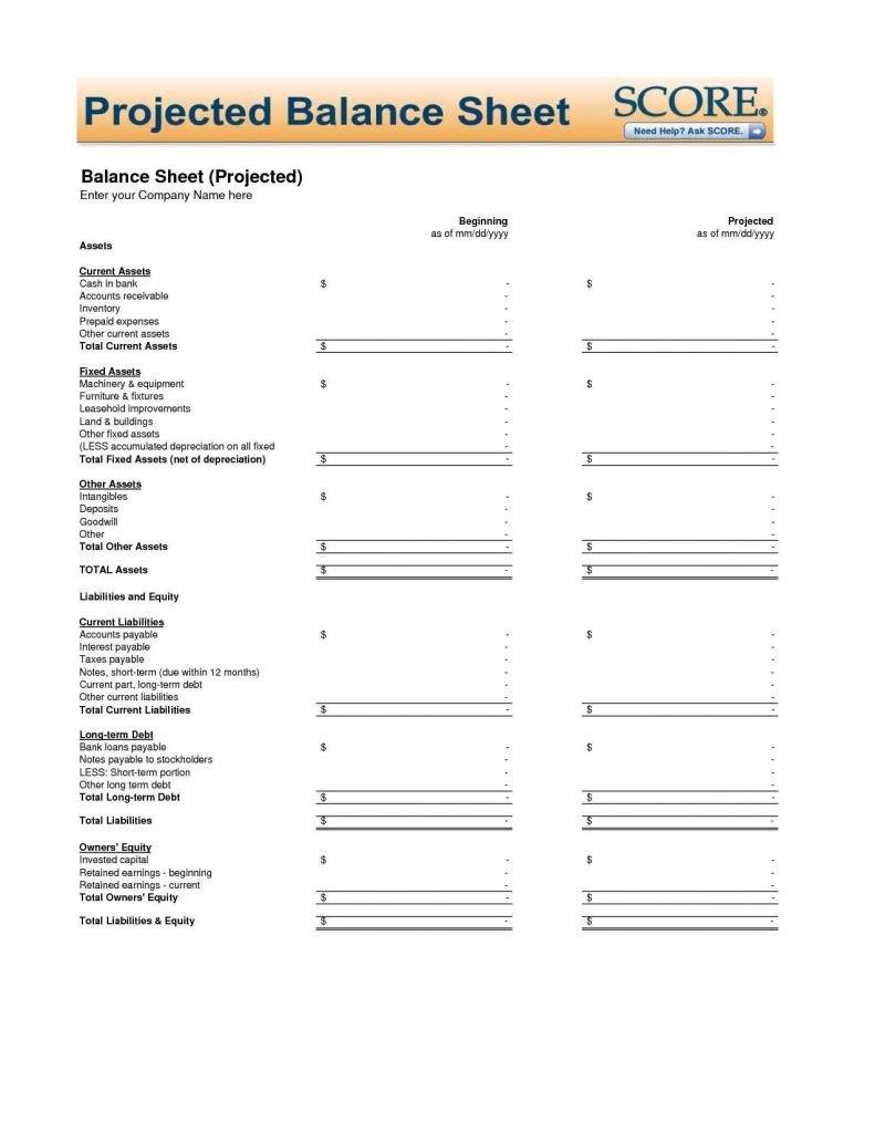 Small Business Balance Sheet Template Excel  Business Analysis With Regard To Business Balance Sheet Template Excel