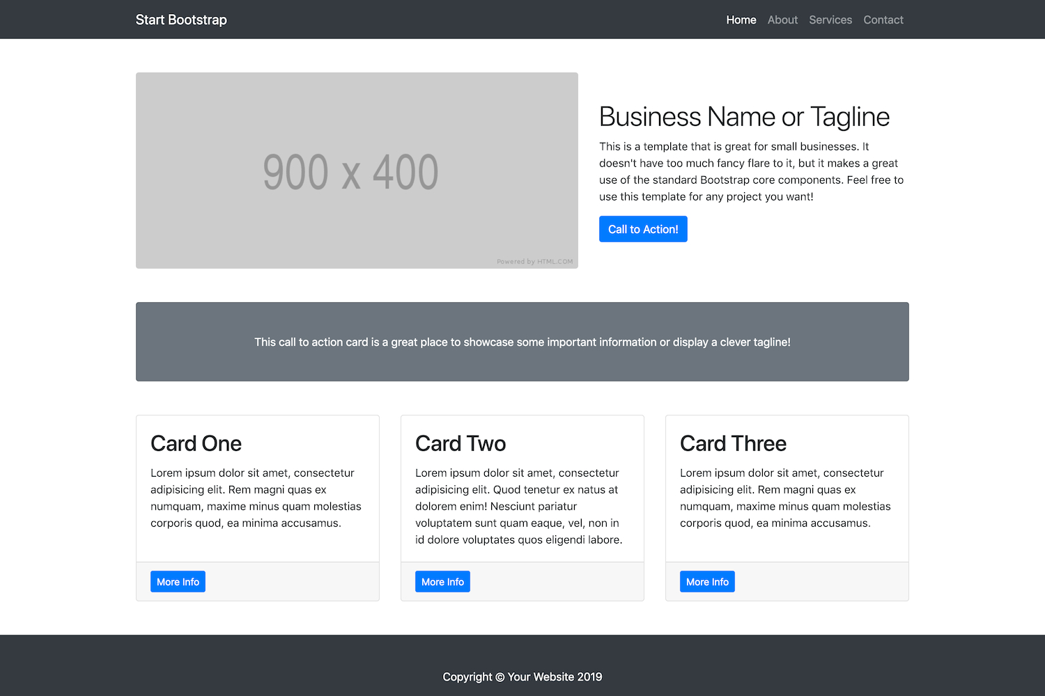 Small Business  Bootstrap Marketing Website Template  Start Bootstrap Pertaining To Website Templates For Small Business