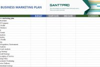 Small Business Marketing Plan  Free Download  Excel Template with regard to Marketing Plan For Small Business Template