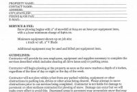 Snow Removal Contract Templates Template Ideas Simple Shocking throughout Free Snow Plowing Contract Templates