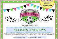 Soccer Award Certificate Examples  Pdf Psd Ai Indesign throughout Soccer Award Certificate Template