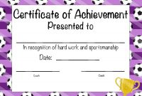Soccer Certificate Of Participation Soccer Award Print At  Etsy pertaining to Soccer Award Certificate Template