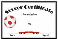 Soccer Certificate Template in Soccer Certificate Template