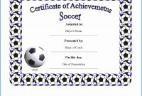 Soccer Certificate Templates  Sansurabionetassociats for Soccer Certificate Templates For Word