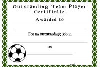 Soccer Certificate Templates  Sansurabionetassociats Pertaining To Soccer Award Certificate Templates Free