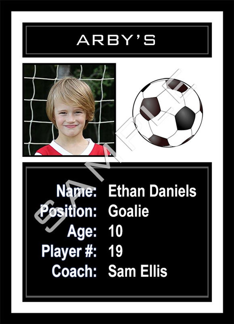 Soccer Sports Trader Card Template For Photoshop Simply  Etsy With Soccer Trading Card Template