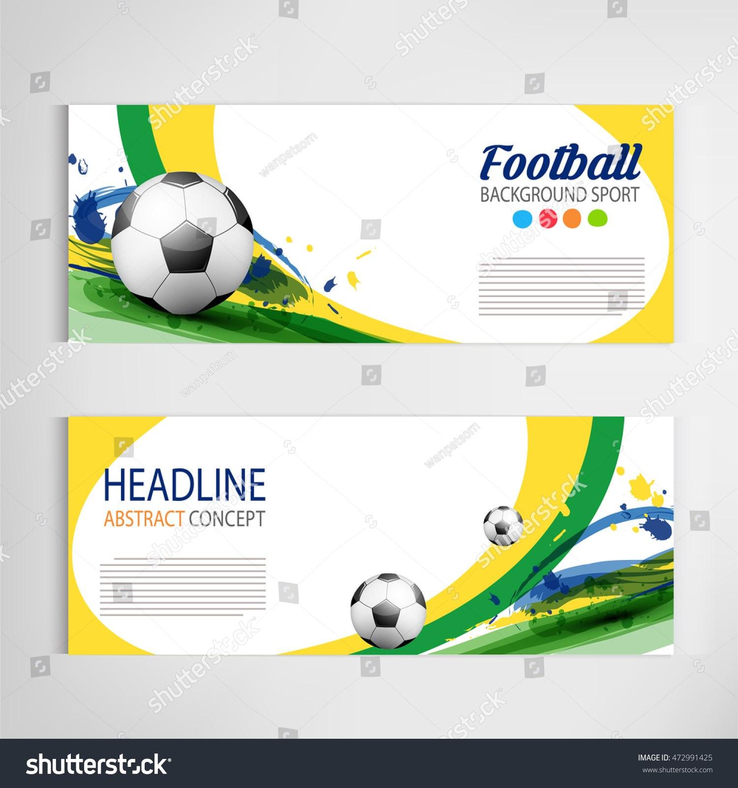 Soccer Tournament Modern Sport Banner Template Stock Vector Royalty Regarding Sports Banner Templates