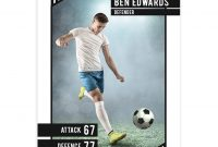 Soccer Trader Card Template For Photoshop  Mockaroon intended for Soccer Trading Card Template