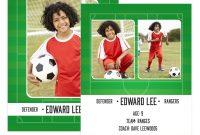 Soccer Trader Card Template  Mockaroon in Soccer Trading Card Template