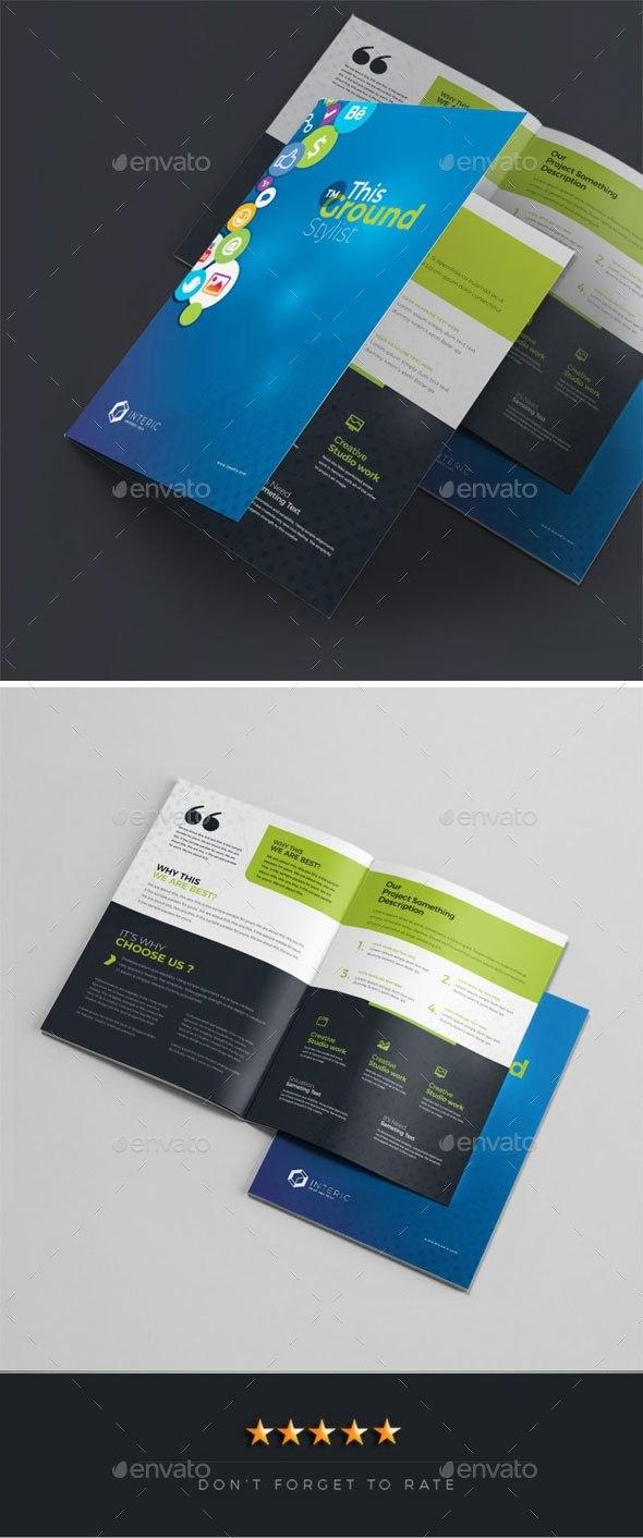 Social Media Bifold Brochure Media Social Bi Brochure Throughout Social Media Brochure Template