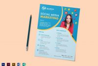 Social Media Marketing Flyer Design Template In Psd Word Publisher with Social Media Brochure Template