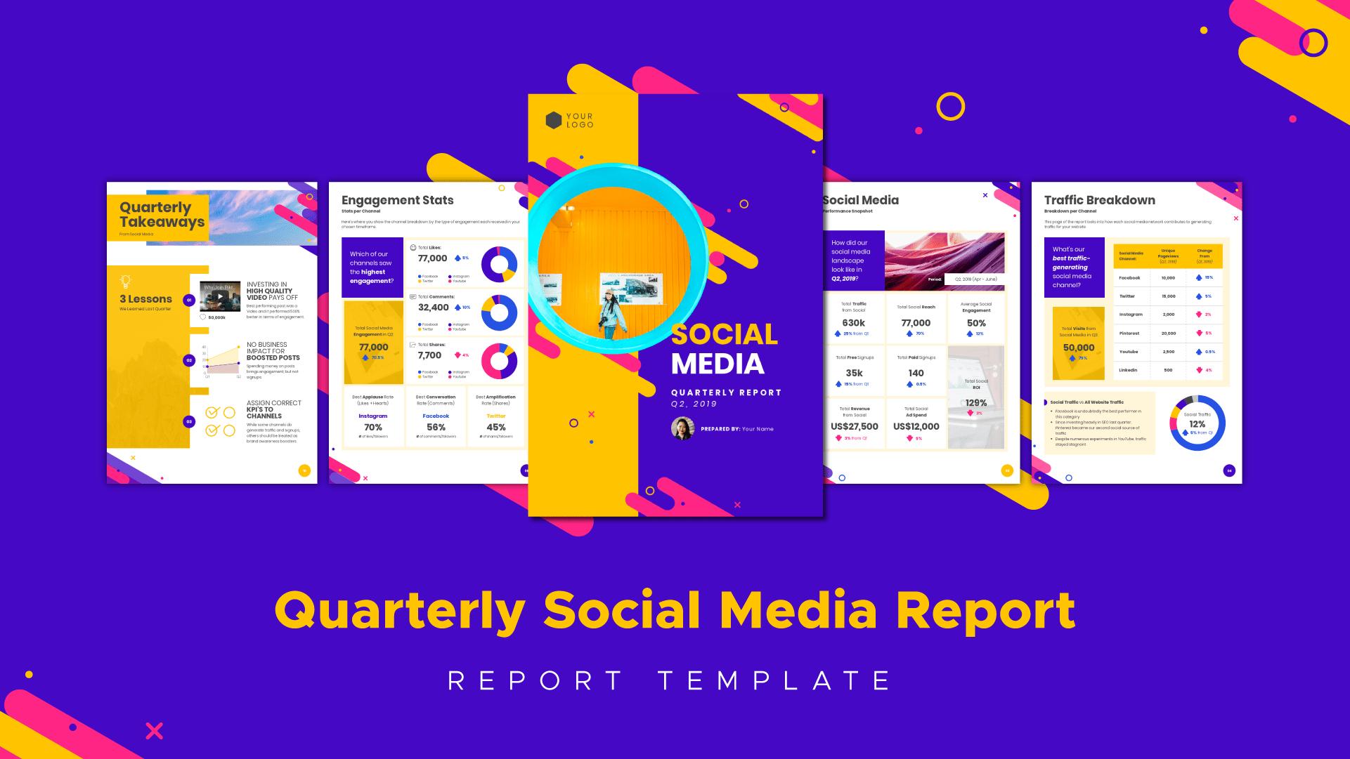 Social Media Marketing How To Create Impactful Reports  Piktochart Pertaining To Social Media Marketing Report Template