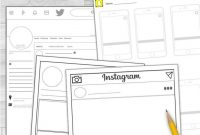 Social Media Template Bundle Instagram Snapchat  Twitter within Book Report Template In Spanish