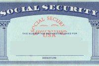 Social Security Card  Tax Refund Service  Estimate Tax Refund Usa pertaining to Georgia Id Card Template