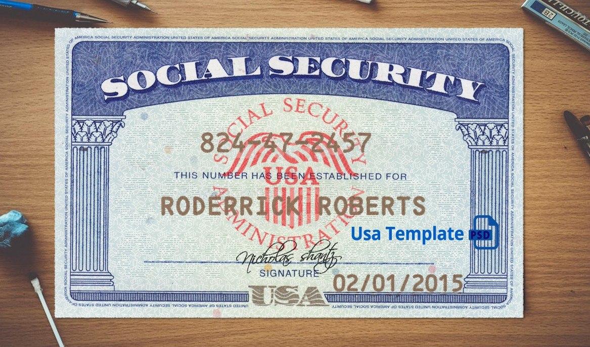 Social Security Card Template Download  Nurul Amal For Social Security Card Template Download