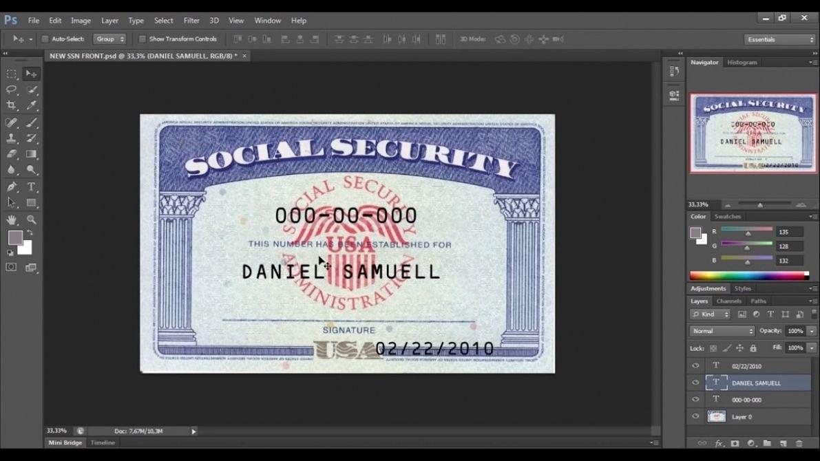 Social Security Card Template  Trafficfunnlr Within Social Security Card Template Free
