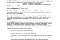Software Development Nondisclosure Agreement Nda Template with regard to Free Mutual Non Disclosure Agreement Template
