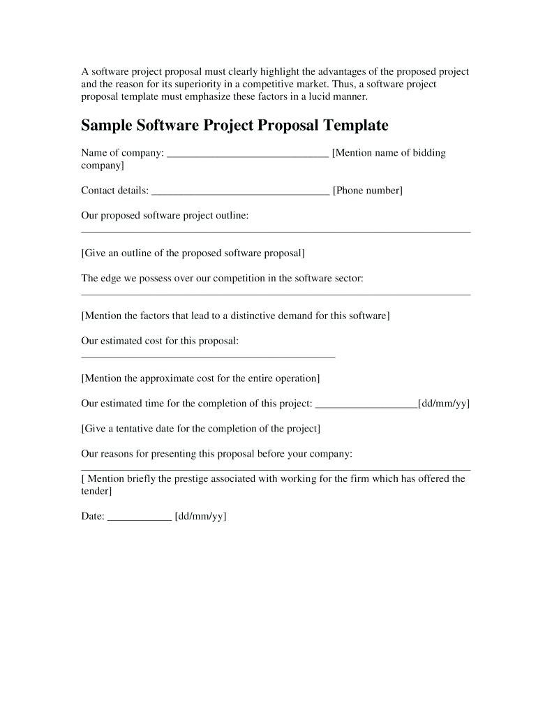 Software Project Proposal Examples  Pdf Word  Examples In Software Project Proposal Template Word