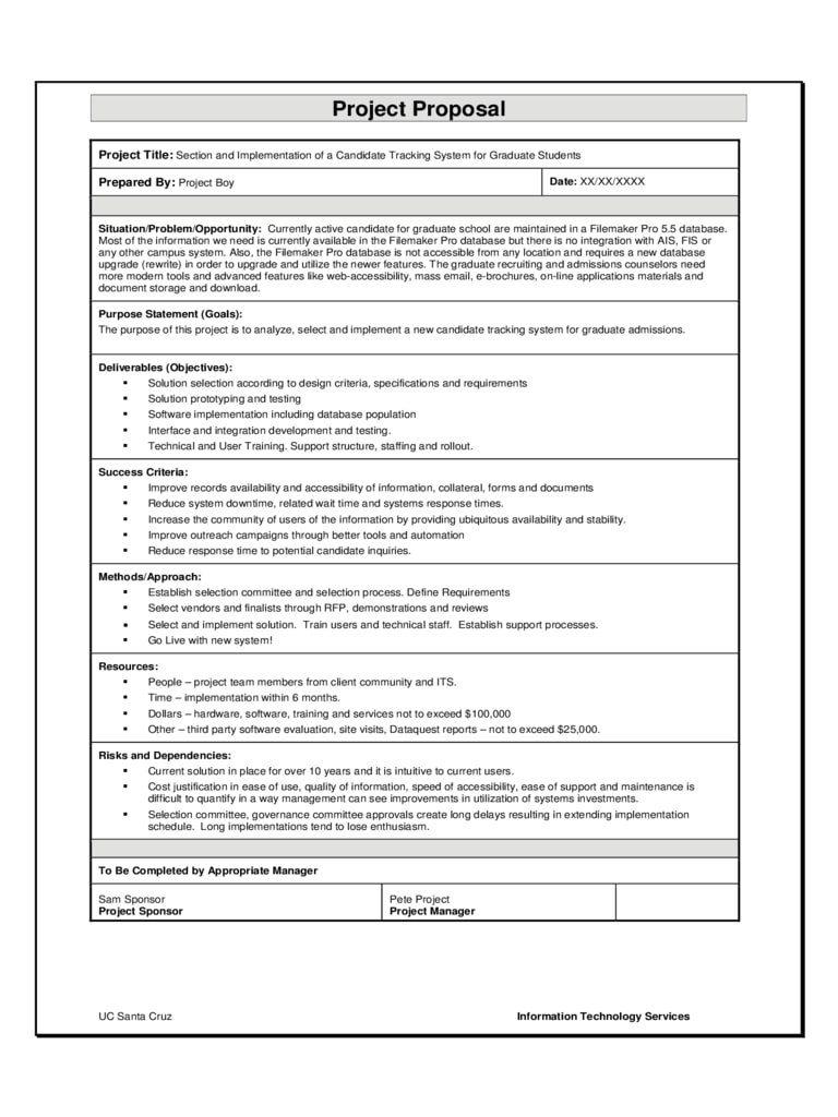 Software Project Proposal Examples  Pdf Word  Examples Within Software Project Proposal Template Word