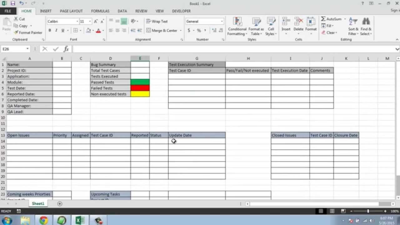 Software Testing Weekly Status Report Template  Youtube Inside Qa Weekly Status Report Template