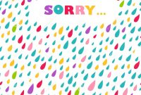 Sorry' Card Drops Background Stock Vector  Illustration Of in Sorry Card Template