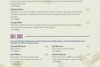 Spa Menu Templates And Designs From Imenupro regarding Spa Menu Template