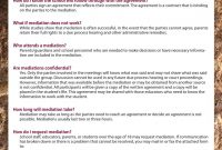 Special Education Mediationualr William H Bowen School Of Law in Mediation Outcome Agreement Template