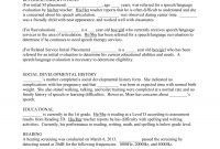 Speechevaluationreporttemplate within Speech And Language Report Template